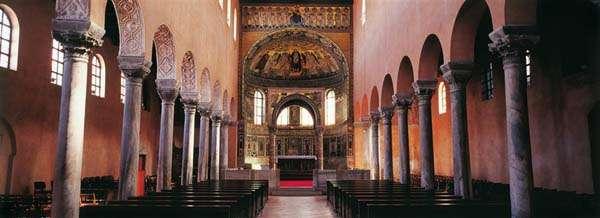 Basílica de Eufrasio en Porec interior