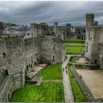 El Castillo de Caernarfon, en Gales