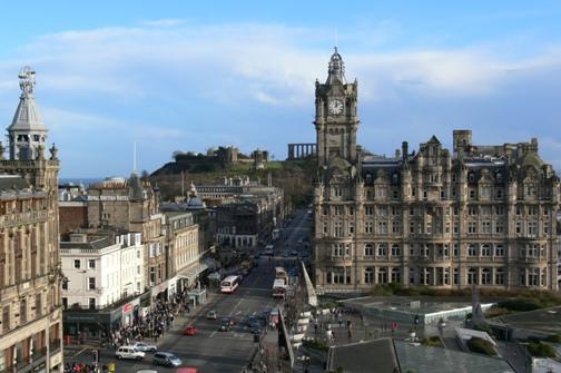 Edimburgo, la capital de la lluvia alegre Edimburgo