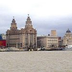 La ciudad de Liverpool, Inglaterra