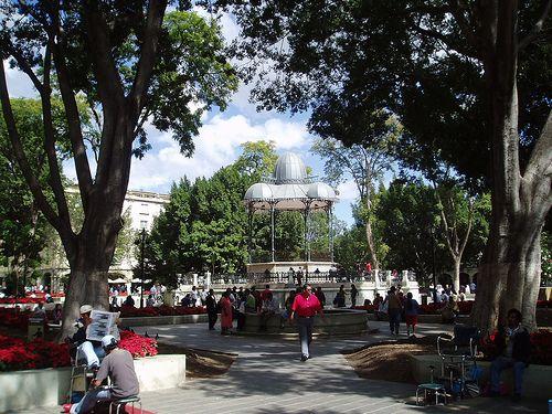 El Zocalo, en Oaxaca